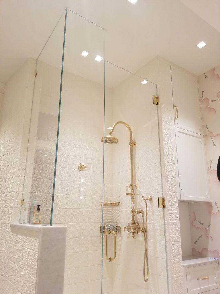 brass shower doors