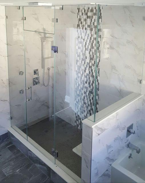 steam shower door system